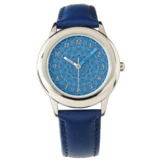 Relógio azul decorativo dos miúdos do vintage