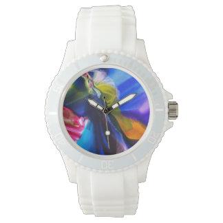 Relógio azul do silicone