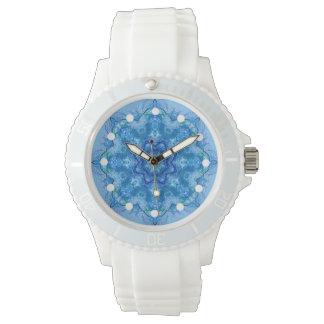 Relógio azul Kaleidoscopic
