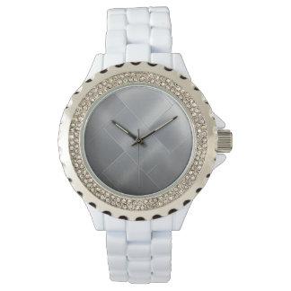 Relógio Azulejo de prata