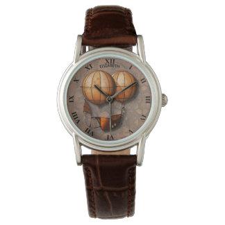 Relógio Balão de ar retro de Steampunk do vintage com