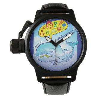 Relógio Baleia selvagem que diz palavras más ao fujir o
