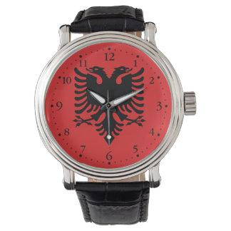 Relógio Bandeira albanesa patriótica