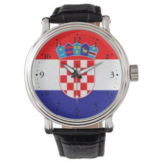 Relógio Bandeira croata patriótica