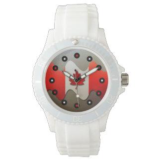 Relógio Bandeira-Cromo de Canadá por Shirley Taylor