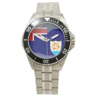 Relógio Bandeira de Anguilla