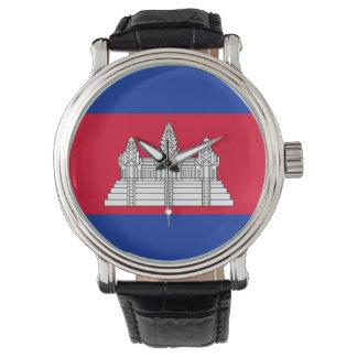 Relógio Bandeira de Cambodia