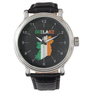 Relógio Bandeira de país irlandesa