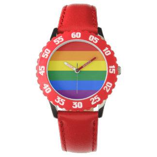 Relógio Bandeira do arco-íris