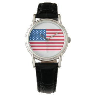 Relógio Bandeira dos Estados Unidos da bandeira dos EUA