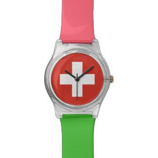 Relogio Bandeira nacional da suiça