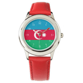Relógio Bandeira patriótica de Azerbaijan