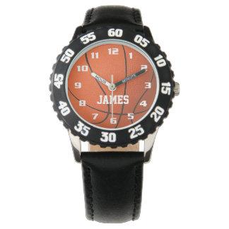 Relógio Basquetebol do monograma