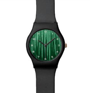 Relógio binário verde da chuva May28th