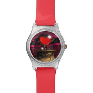 Relógio Bola de cristal para o amor - 3D rendem