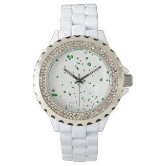 Relógio Bolhas verdes