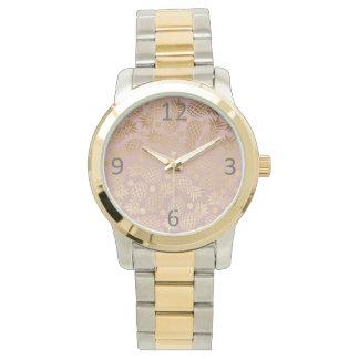 Relógio bolinhas elegantes do teste padrão do abacaxi do