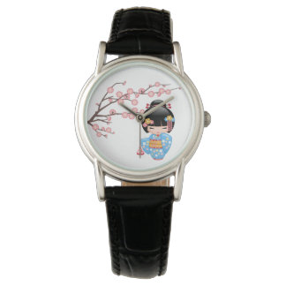 Relógio Boneca de Maiko Kokeshi - menina de gueixa