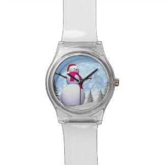 Relógio Boneco de neve - 3D rendem