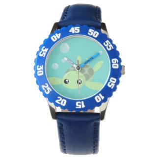 Relógio bonito da tartaruga de mar