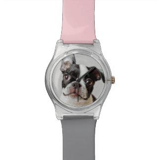 Relógio Boston Terrier