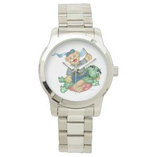 Relógio Bracelete de prata desproporcionado dos DESENHOS