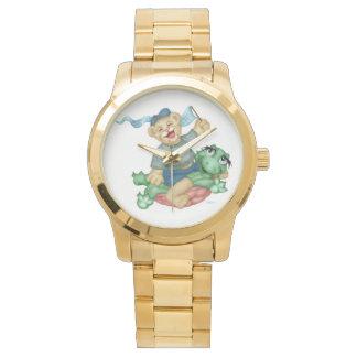 Relógio Bracelete desproporcionado do ouro dos DESENHOS