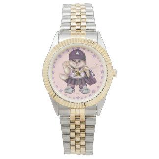 Relógio Bracelete do Dois-Tom da MENINA do CAT do