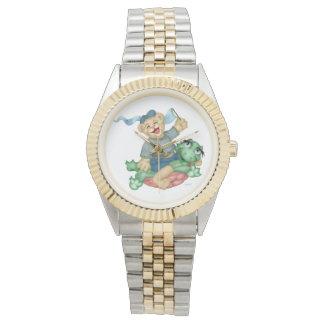 Relógio Bracelete do Dois-Tom dos DESENHOS ANIMADOS do