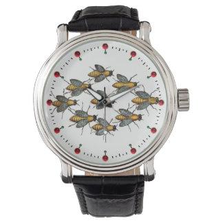 Relógio Branco da APICULTURA das ABELHAS/APICULTOR do MEL
