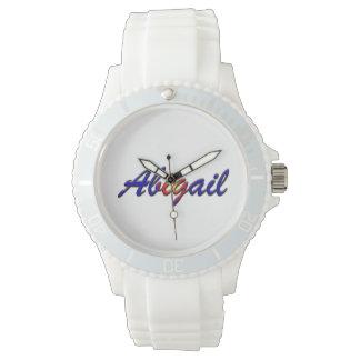 Relógio branco desportivo do silicone das mulheres