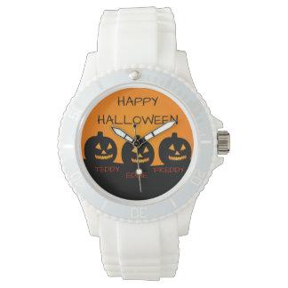 Relógio branco desportivo do silicone das senhoras