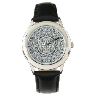 Relógio branco dos miúdos do vintage do teste