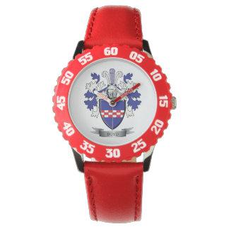 Relógio Brasão da crista da família de Boyd