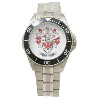 Relógio Brasão da crista da família de Dunlap