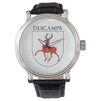 Relógio Brasão da família de Descamps