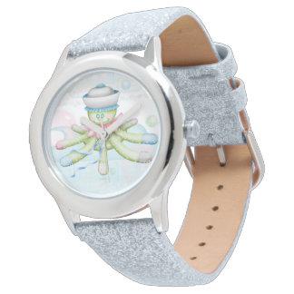 Relógio Brilho da prata dos DESENHOS ANIMADOS do URSO da