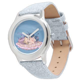 Relógio Brilho FEERICAMENTE da prata dos DESENHOS ANIMADOS