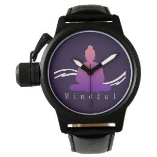 "Relógio Buddha. bonito ""consciente"""