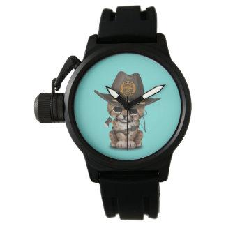 Relógio Caçador bonito do zombi de Cub da chita