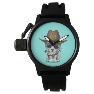 Relógio Caçador bonito do zombi de Cub de lobo