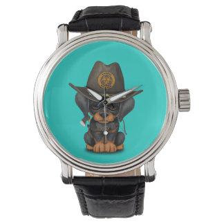 Relógio Caçador bonito do zombi do filhote de cachorro do