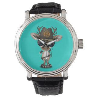 Relógio Caçador do zombi da rena do bebê