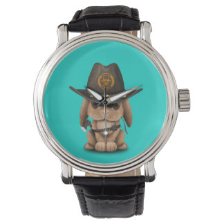 Relógio Caçador do zombi do coelho do bebê
