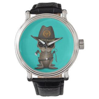Relógio Caçador do zombi do leão de mar do bebê