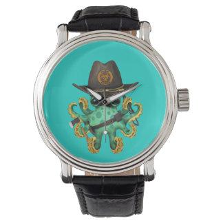 Relógio Caçador verde do zombi do polvo do bebê