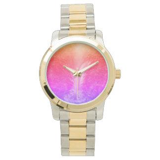 """Relógio """"Cachoeira tranquilo brilhante vibrante """""""
