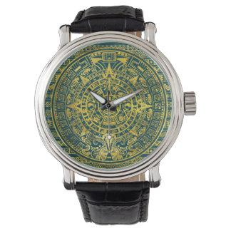 Relógio Calendário maia do Inca asteca do ouro