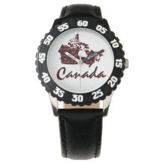 Relógio canadense de Canadá do bordo vermelho do