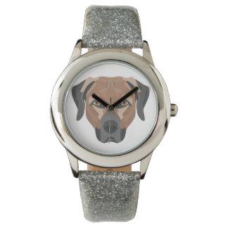 Relógio Cão Brown Labrador da ilustração